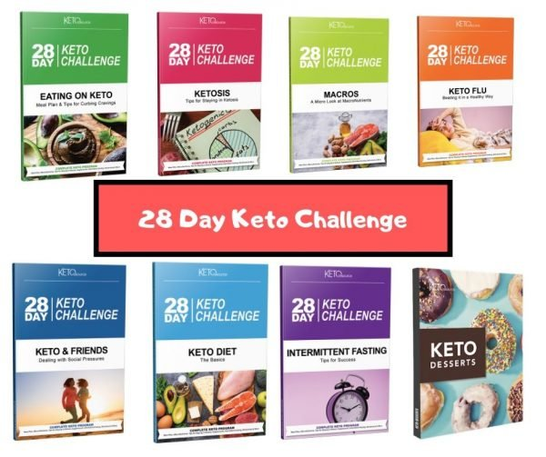 28 day keto challange all books and bonuses in one picture