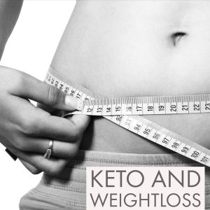 keto weight loss example with a woman