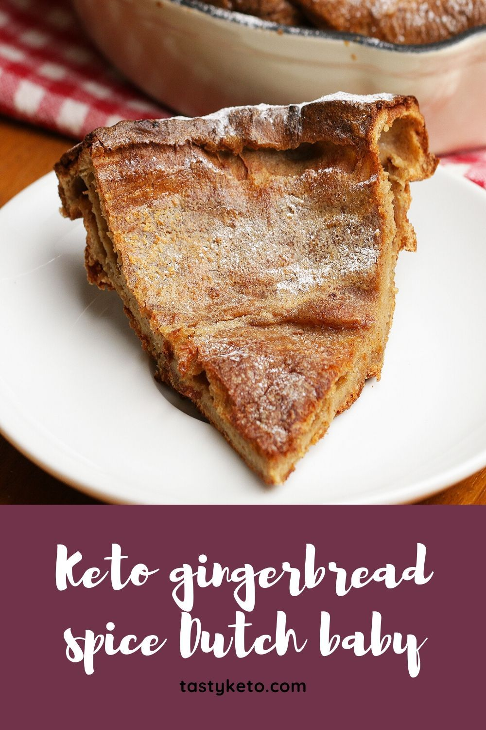Keto gingerbread spice Dutch baby
