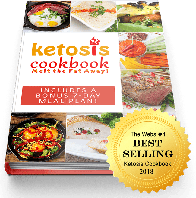 Ketosis cookbook's mockup